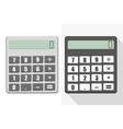 two different styles and calculator vector image vector image