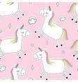 unicorn seamless pattern print design vector image vector image