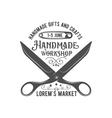 vintage tailor label badge and design element vector image