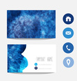 Watercolor business card vector image vector image