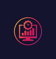 work productivity icon vector image vector image
