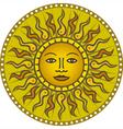 vintage sun 01 vector image