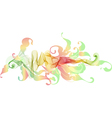 floral abstract vintage background vector image