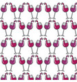 glasses splashing wine background icon vector image