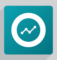 flat up diagram icon vector image