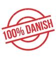 100 percent danish rubber stamp vector image vector image