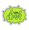 absolutely fresh label patch 100 percent guarantee vector image