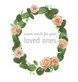 beautiful oval frame wreath watercolor pattern vector image vector image