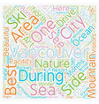 Beautiful Vancouver City of the Sea Mountains text vector image vector image