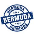 bermuda blue round grunge stamp vector image vector image