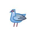 bird logo design template linear style vector image vector image