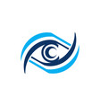 blue eye care logo icon symbol design vector image vector image