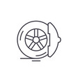 brake pads line icon concept brake pads vector image vector image