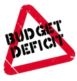 Budget Deficit rubber stamp vector image vector image