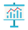 business growing chart on board flat icon vector image