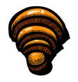 cartoon image of wifi icon wireless network vector image