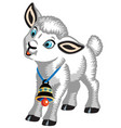 cartoon lamb with a bell vector image vector image