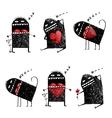 Character Ugly Eccentric Monster in Love with Red vector image vector image
