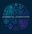 chemical compound blue round outline vector image