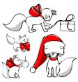 christmas cats vector image vector image