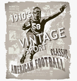classic american football vector image vector image