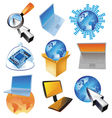 Concept for computer business vector image