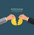 conflict in business vector image