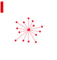 connection icon red hub network designed vector image vector image