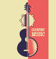 country music poster background with musical vector image vector image
