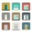 Doors icons set vector image