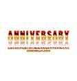 elegant silver and golden anniversary celebration vector image vector image