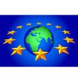 EU stars and globe vector image vector image