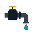 faucet with drop of water icon image vector image vector image