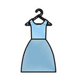 female suit hanging in hook vector image
