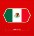 flag of mexico is made in football style vector image vector image