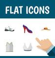 flat icon dress set of brasserie elegant headgear vector image vector image