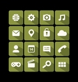 flat icons green vector image vector image