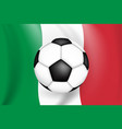 football game background italy with flag vector image
