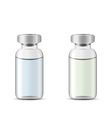 Glass medical vials with drug solution vector image vector image