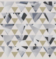 gray triangle pattern with grunge effect vector image vector image
