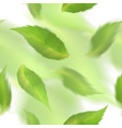 green leaves seamless pattern blurred veector vector image vector image