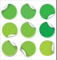 green stickers collection vector image vector image
