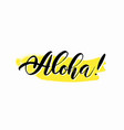 hand drawn hawaiian summer lettering tropical vector image