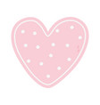 happy valentines day pink dotted heart romantic vector image vector image