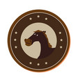 horse character wild west icon