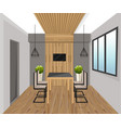 interior design loft style dining table vector image vector image
