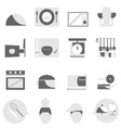 Kitchen icons on white background vector image