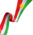 kurdistan ribbon flag on white background vector image