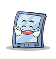 laughing tablet character cartoon style vector image vector image