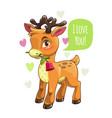 little cute cartoon deer valentines vector image vector image